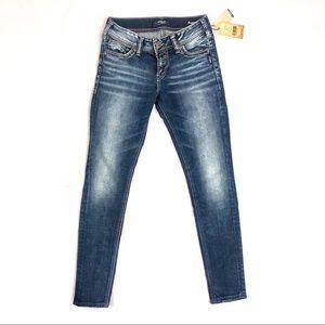 Women's Silver Elyse Mid Skinny Jean